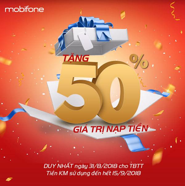 MobiFone khuyến mại 50% dịp Quốc khánh 2/9