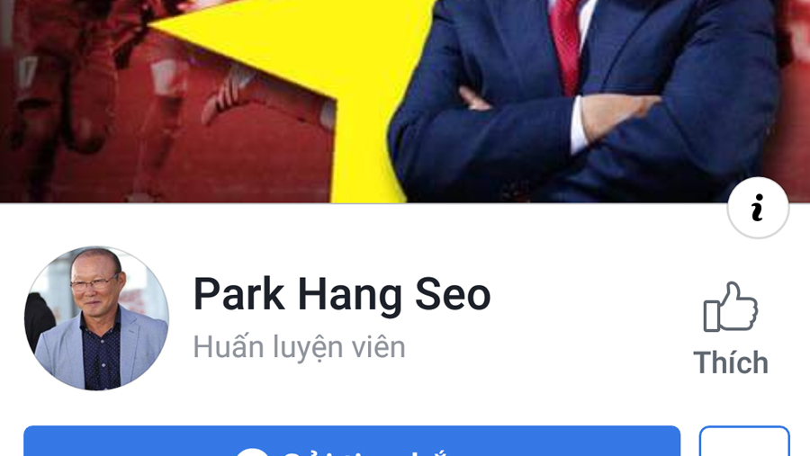Park Hang Seo,Facebook