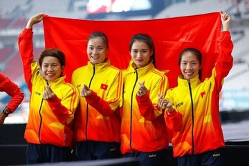 Asiad ngày 30/8: Chạy tiếp sức nữ vượt Trung Quốc, giành HCĐ