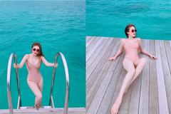 Bảo Thy nóng bỏng với bikini màu da