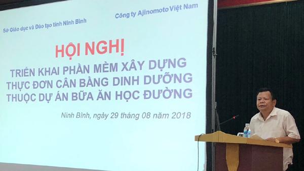 Ninh Bình triển khai dự án Bữa ăn học đường