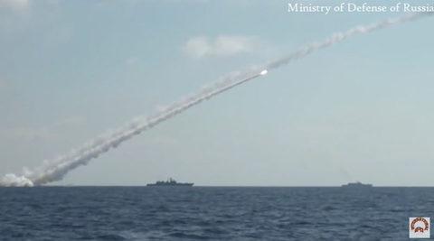 Xem tàu Nga nã tên lửa vào hang ổ IS ở Syria