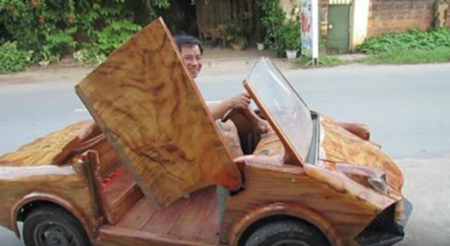 xe điện,xe gỗ,xe độ,BMW bằng gỗ,Lamborghini bằng gỗ