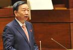Báo cáo Bộ Chính trị việc Giám đốc Công an tỉnh mang hàm cấp tướng