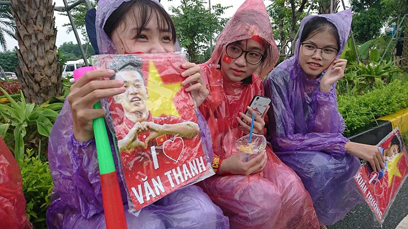U23 Việt Nam,đón đoàn U23 Việt Nam,Park Hang Seo,Quang Hải,Bùi Tiến Dũng,Văn Thanh,Xuân Trường