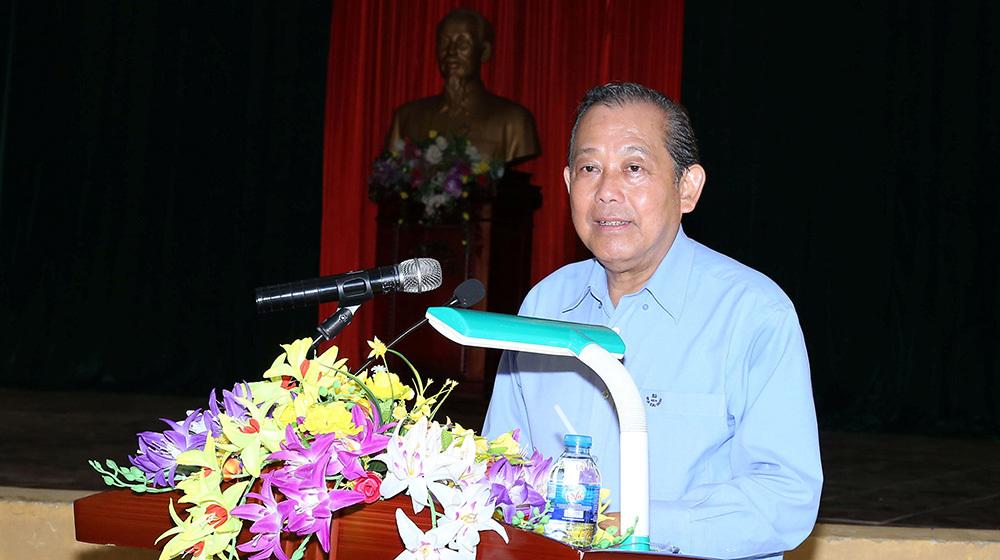 Phó Thủ tướng Thường trực,Trương Hòa Bình,biên phòng