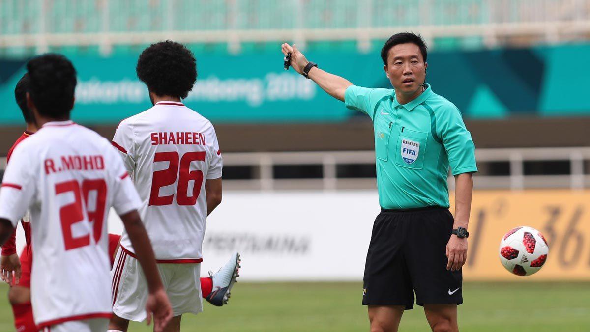 U23 Việt Nam,U23 UAE,Asiad 2018,Trọng tài Kim Dae Yong