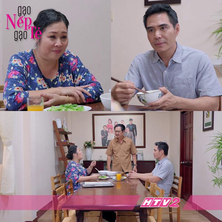 'Gạo nếp gạo tẻ' tập 52: Hồng Vân khiến chồng ghen tị khi đối xử tốt với con rể