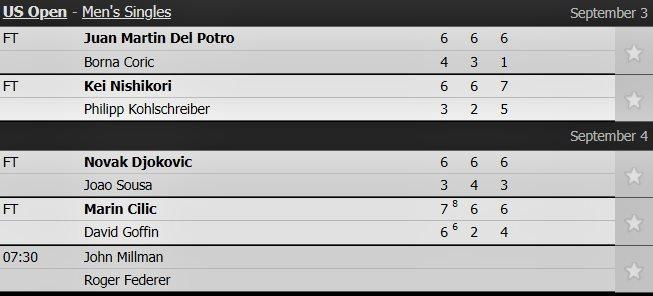 Novak Djokovic,Joao Sousa,US Open 2018
