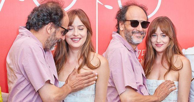 Đạo diễn lấy tay che ngực cho mỹ nhân '50 sắc thái' gây xôn xao