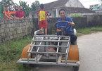 """Ngắm chiếc xe """"ô tô mui trần"""" do 1 nông dân Nam Định chế tạo"""