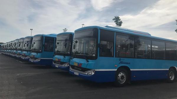 Hà Nội thay xe mới trên 3 tuyến buýt