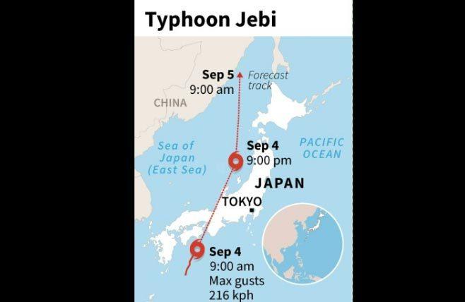 Nhật,bão Jebi,tin bão