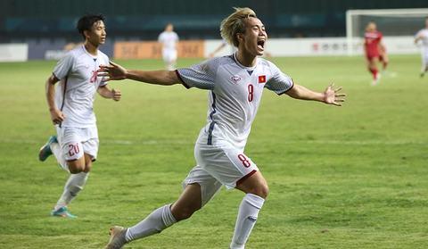 Văn Toàn ghi bàn thắng vào lưới U23 Syria