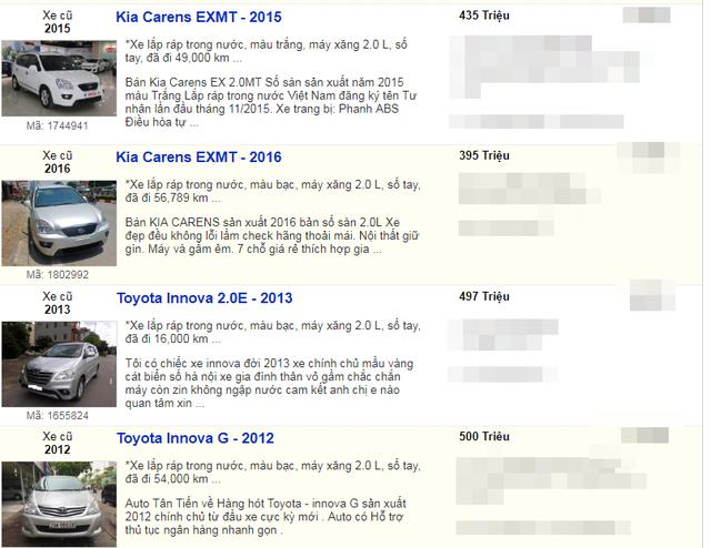 Top những xe 5 chỗ đời cũ 'đắt khách' giá dưới 500 triệu