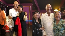 Đang điều trị ung thư, Lê Bình vẫn chống gậy đi xem phim cùng đồng nghiệp