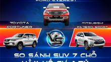 SUV 7 chỗ hầm hố giá 1 tỷ: So găng Ford Everest, Toyota Fortuner, Mitsubishi Pajero Sport