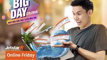 Online Friday 2018: mua vé Jetstar Pacific 99.000đ
