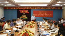 Ban chỉ đạo TƯ kiểm tra công tác phòng chống tham nhũng tại Hòa Bình