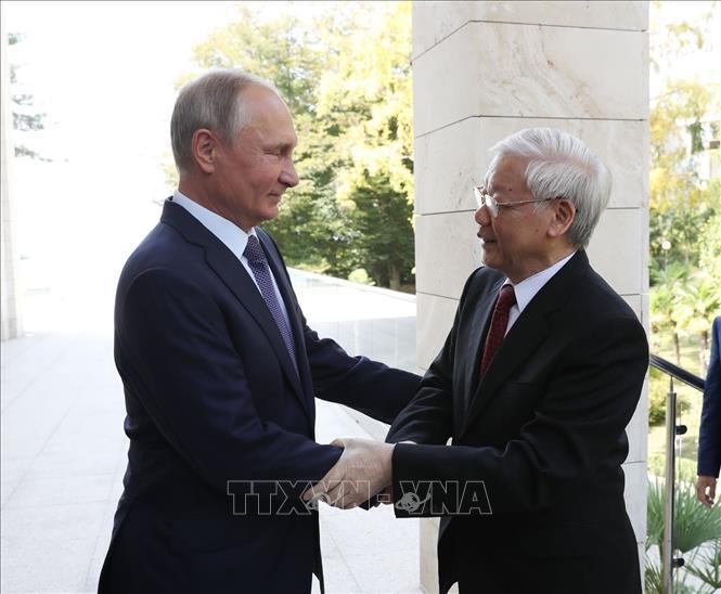 Tổng bí thư Nguyễn Phú Trọng,Nguyễn Phú Trọng,quan hệ Việt-Nga,Việt-Nga,Tổng thống Putin