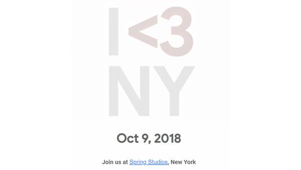 Google gửi lời mời sự kiện 9/10: Pixel 3 và Pixel 3 XL sẽ ra mắt?
