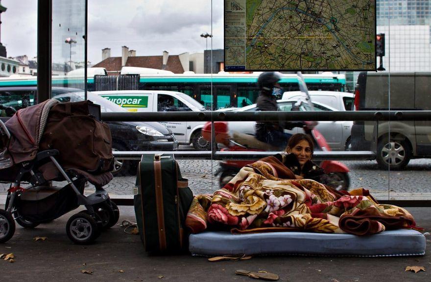 Paris,Người vô gia cư,Du lịch châu Âu,Nhiếp ảnh gia