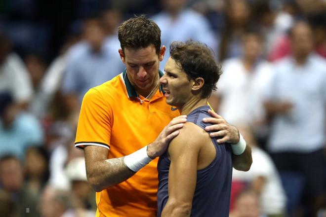 Nadal 'đầu hàng' Del Potro ở bán kết US Open vì chấn thương