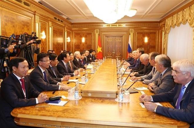 Tổng bí thư hội kiến Chủ tịch Duma Quốc gia Nga