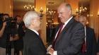 Tổng bí thư tiếp Chủ tịch Đảng Cộng sản Liên bang Nga