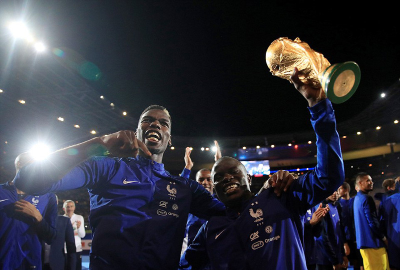 Pháp,World Cup 2018,Pogba,Kante