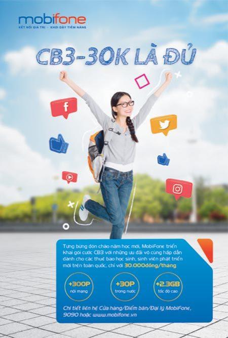 Vui tựu trường với gói cước ưu đãi lớn từ MobiFone
