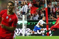 """""""Chấp"""" Ronaldo, Bồ Đào Nha vẫn đánh bại Italia"""