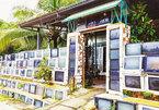 Độc đáo ngôi nhà có hàng rào làm từ hàng trăm chiếc ti vi cũ ở Phú Quốc