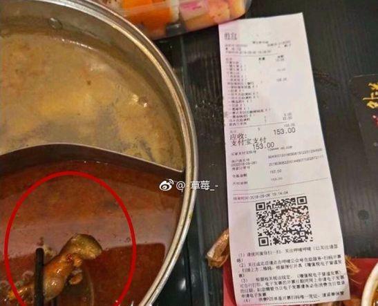Thực khách hoảng khi thấy xác chuột chết trong nồi lẩu của nhà hàng Trung Quốc