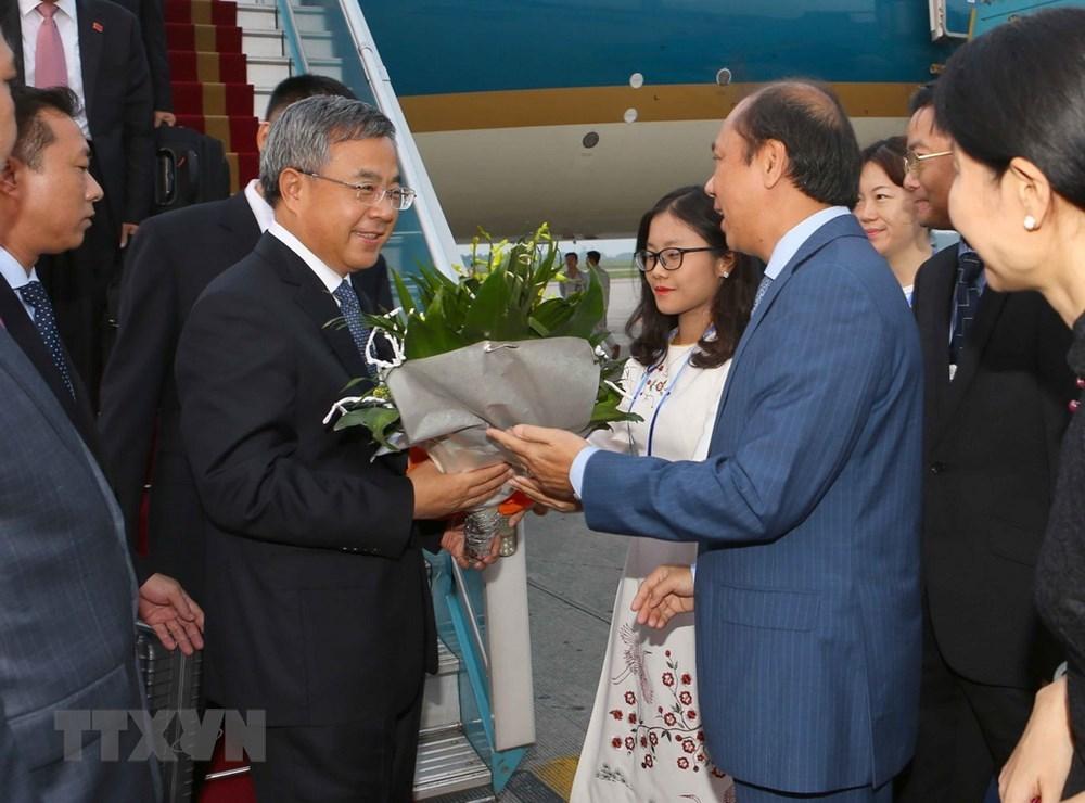 Hình ảnh Phó Thủ tướng Trung Quốc đến Hà Nội dự WEF ASEAN 2018