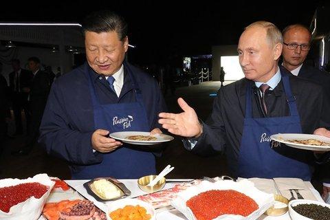 Xem ông Putin thi nấu ăn với ông Tập Cận Bình