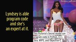 Người mẫu Victoria Secret là cao thủ viết code
