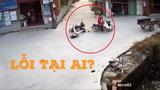 Pha va chạm giữa hai xe máy khiến dân mạng rùng mình sợ hãi