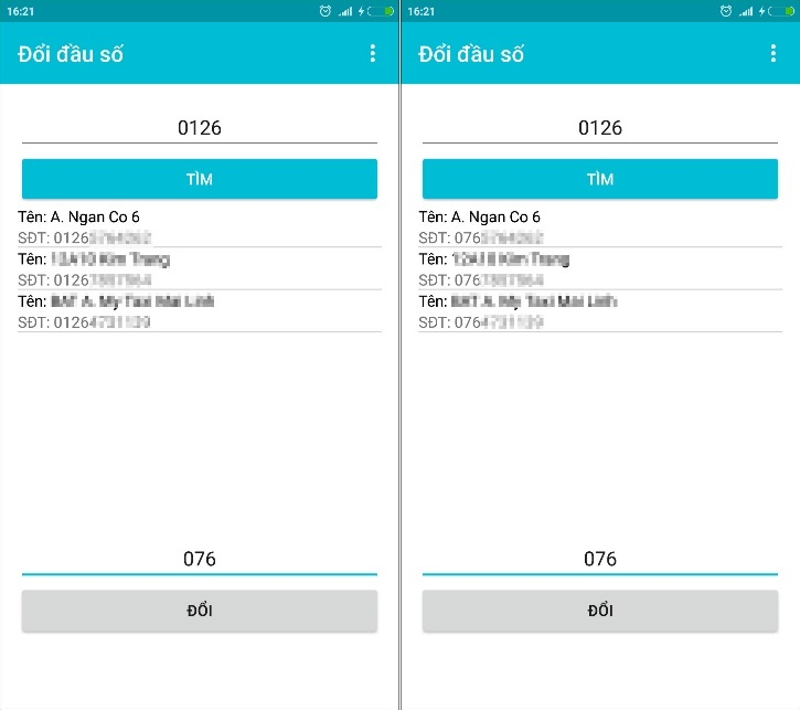 Cách chuyển danh bạ điện thoại 11 số về 10 số trên Android và iOS