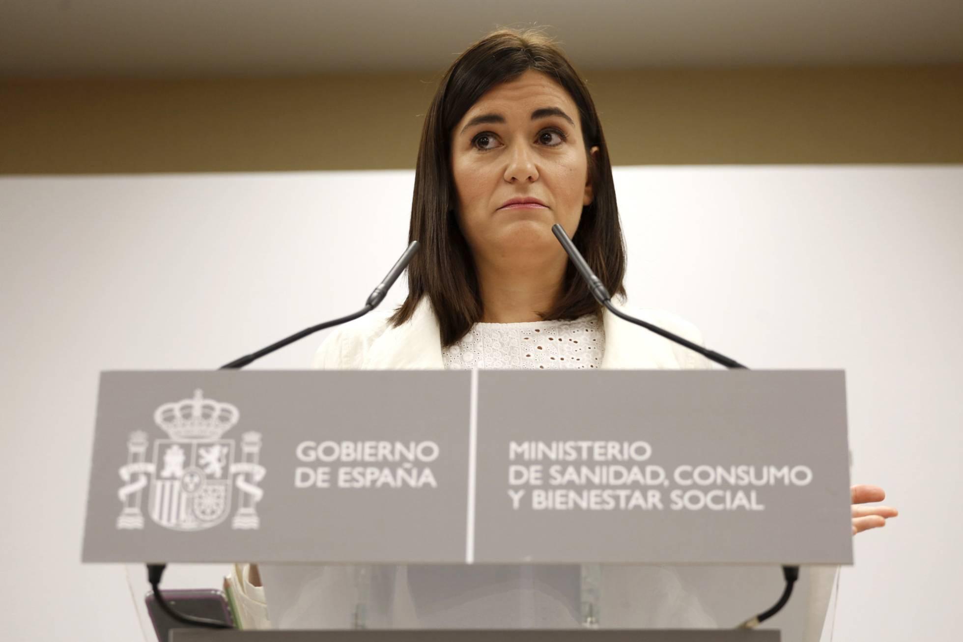 Bộ trưởng Y tế Tây Ban Nha Carmen Monton