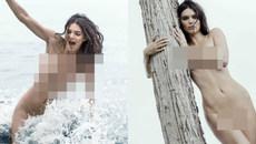 Siêu mẫu Kendall Jenner gây bão mạng khi lộ bộ ảnh khỏa thân 100%