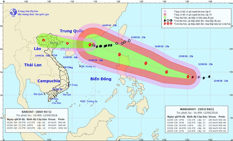 bão Mangkhut,siêu bão,bão số 5,tin bão mới nhất,tin bão