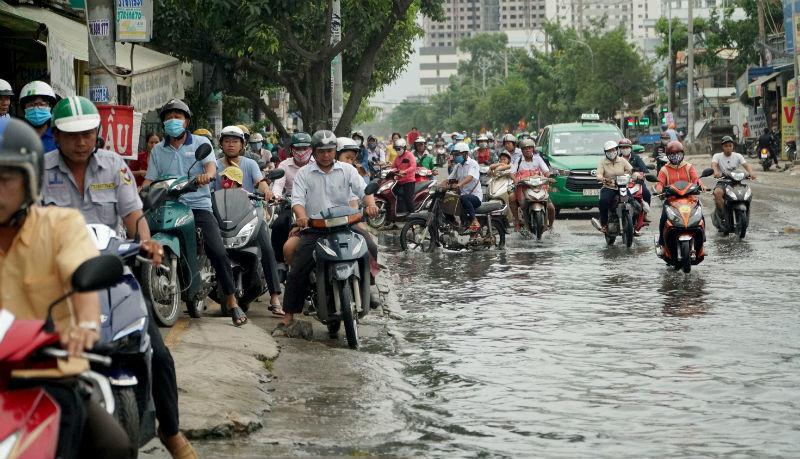 triều cường,ngập lụt,ngập ở Sài Gòn,mưa ngập