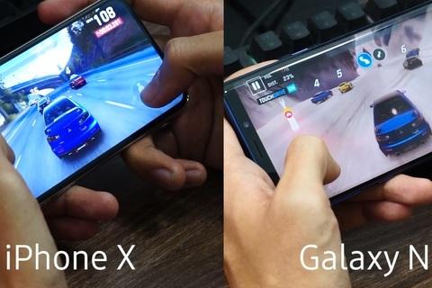 So sánh hiệu năng chơi game giữa Note9 và iPhone X