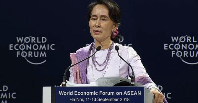 Bà Aung San Suu Kyi tiết lộ lý do điện thoại di động Myanmar giảm 1.000 lần