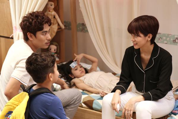 An Nguy và Kiều Minh Tuấn cùng vào vai những ông bố, bà mẹ đơn thân dù chưa từng có con ngoài đời.