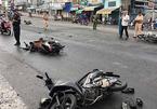 Xe tải lùa hàng loạt xe máy, 11 người bị thương la hét kêu cứu