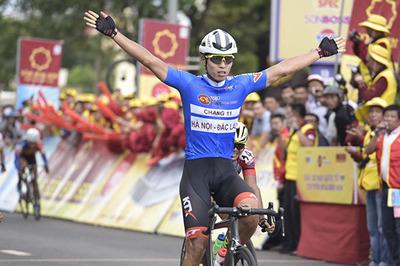 Giải xe đạp VTV Cup Tôn Hoa Sen 2018: Im Jaeyeon xây chắc Áo xanh