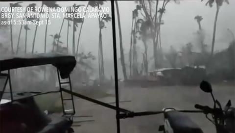 bão Mangkhut càn quét tỉnh Apayao trên đảo Luzon