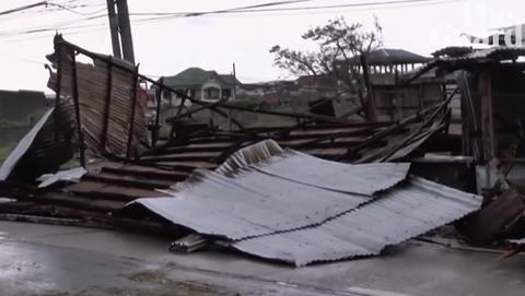 bão Mangkhut tàn phá nhà cửa ở Luzon